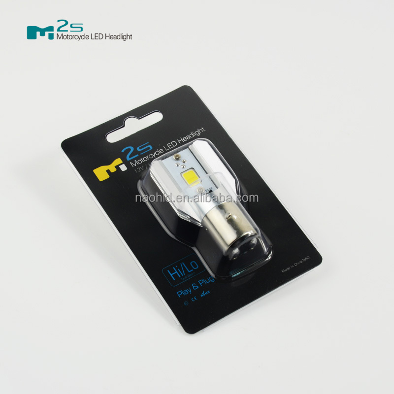 6W led bulb ba20d bajaj ct100 motorcycle headlight 800LM electric motorcycle spare parts led lighting