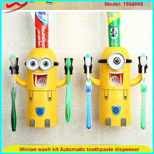 Wash kits minion toothbrush holder gifts for blind children