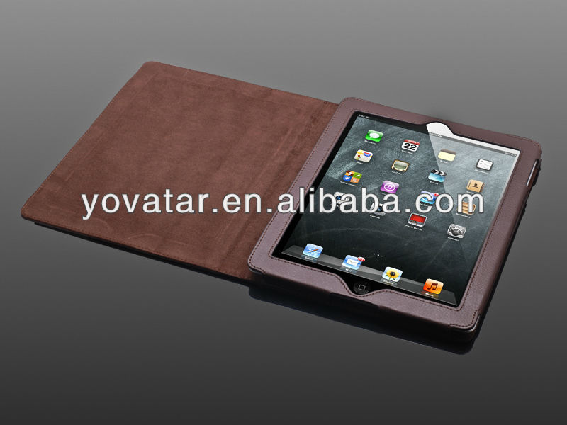 Deluxe Brown Smart Cover PU Leather Case with Stand For Apple iPad 2 & New iPad 3