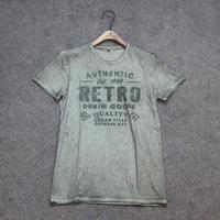 men's Custom OEM European Fashion Top Quality Clothing 100%Cotton Short Sleeve Customize Embroidery Logo Elongated T-shirt
