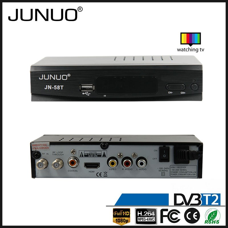 JUNUO china factory 2016 OEM new quality full hd strong tuner mstar 7t01 Ghana tv decoder set top box dvb t2