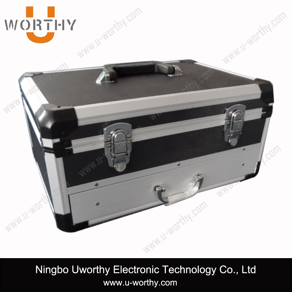 Aluminum Storage Cabinets Box Tool Case with Multilayer Drawers