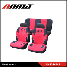 racing full set red PVC embroidery car chair/seat covers