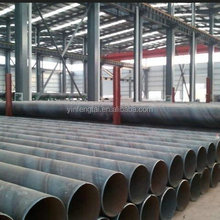 large diameter pe coated fbe painted spiral anti-corrosive steel pipe for waste water drainage pipeline
