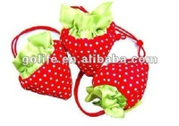 strawberry polyester shopping bag