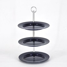3 tier portable round acrylic fruit decoration tray