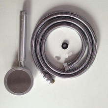 Free shipping Wholesale Aluminium alloy water saving high pressure shower head with shower hose