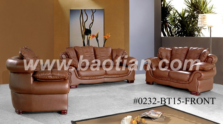 Made in china Foshan soft line leather sofas
