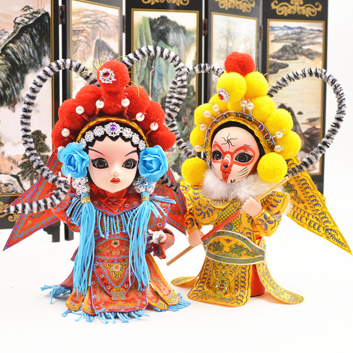 Gift Item Q Version of Peking Opera Characters Furnishing Articles 3D Chinese Drama Figure Cartoon Doll
