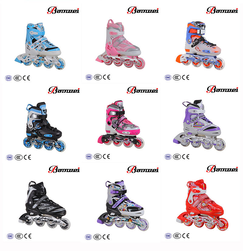 Latest Zhejiang well sale high level BW-137 inline skates for kids