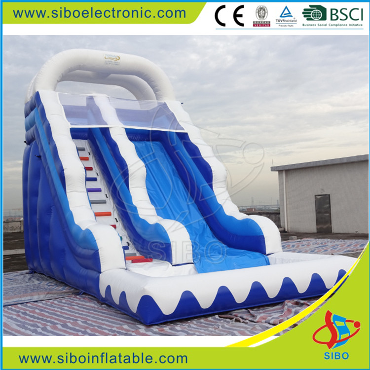 GMIF water park hot wave inflatable slide with PVC material