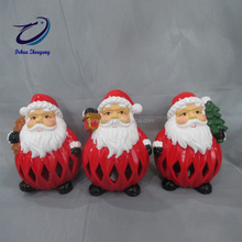 flashing Christmas decoration ceramic santa clause bell