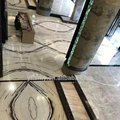 Panda white marble onyx tile china supplier marble cut-to-size marble slabs