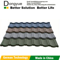 Dongyue Brand zinc and aluminum steel stone coated metal roofing tiles ,roof tile