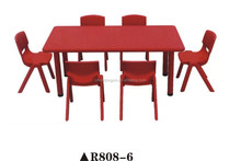 Cheap popular nursery school kindergarten desk and chair R808-6
