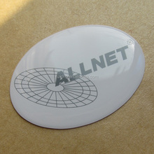 Epoxy domed stickers with an oval shape