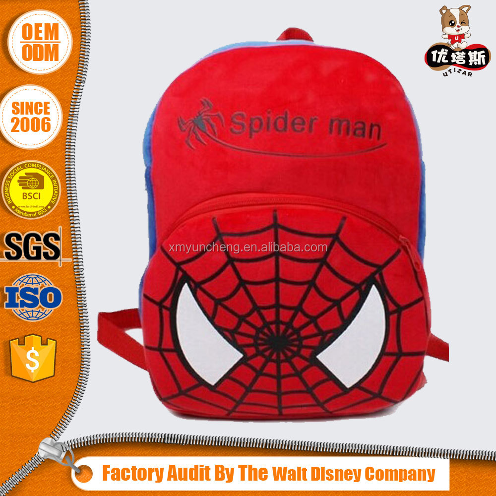 boys spiderman plush backpack for kids for <strong>school</strong>