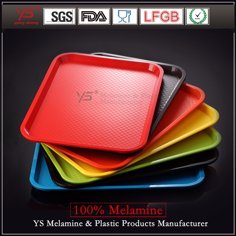Top-level latest design 100% melamine cheap plastic tray