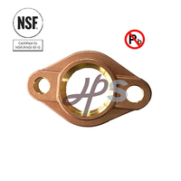 NSF-61 Approved Lead Free Brass or Bronze Water Meter Flange