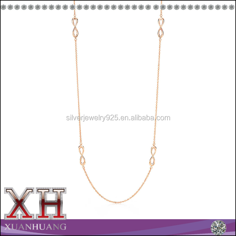 Rose Gold Plating Infinity Chain Necklace