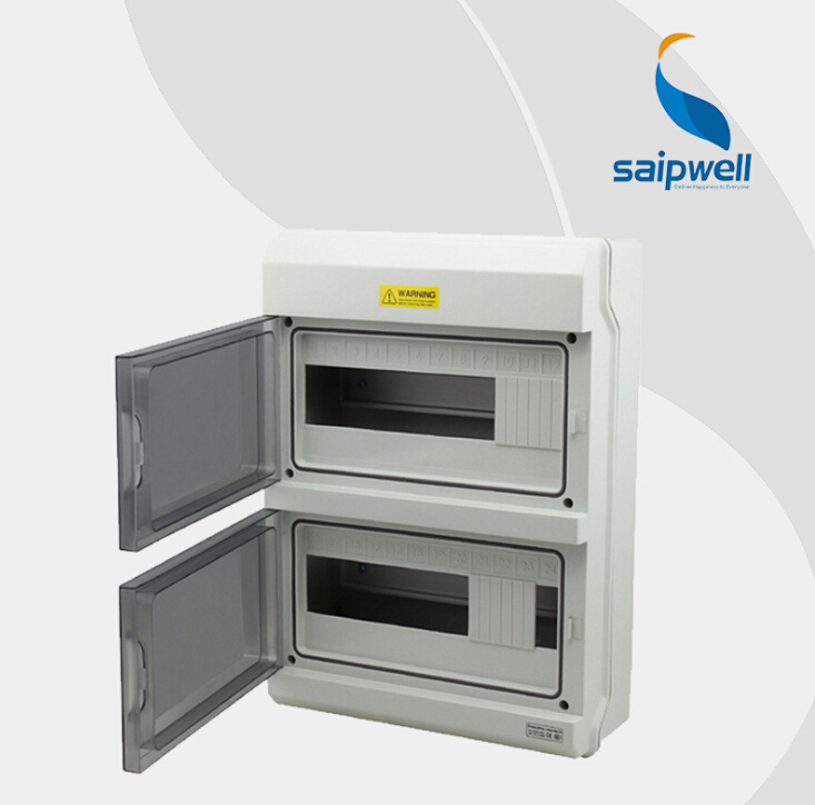 SAIP/SAIPWELL New Products 380*273*100mm 24P Electronic Anticorrosive High Quality Electrical Distribution Box Size