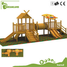 Preschool outdoor wood children playground equipment
