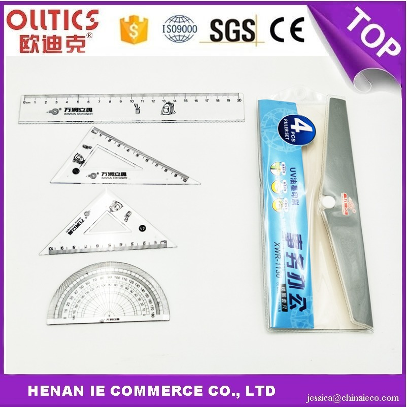 Wholesale Different Kinds Of Office Transparent 20cm Plastic Ruler