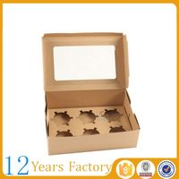 Kraft paper clear lid wholesale cake boxes