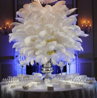 wedding favor ostrich feather centerpiece