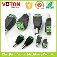 High quality dc wire connectors for LED cctv camera