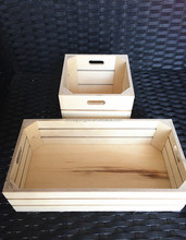 Whosale packing unfinished wood box/wooden fruit wooden crate