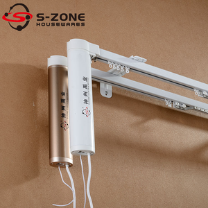 Electric Double Curtain Track/ Automatic Double Curtain Opener/ Wireless Remote Electric Drapery Motor