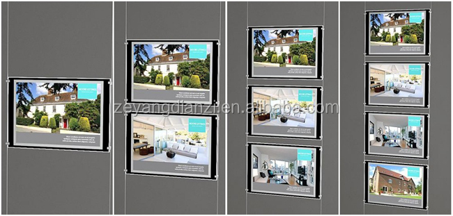 New Christmas Cable hanging window display led edge lit sign base digital photo frame