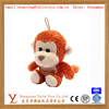 Soft plush toys keychain monkey toys with hanging rope/string