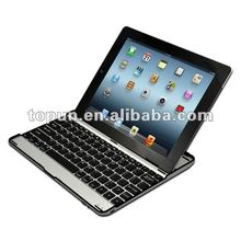 Hot sale 3 in 1 (Wireless Bluetooth Keyboard+Aluminum Case+ Stand) Aluminum bluetooth keyboard for iPad