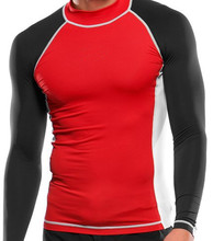 Fashion Long Sleeve Shirts Rash Guards for Men