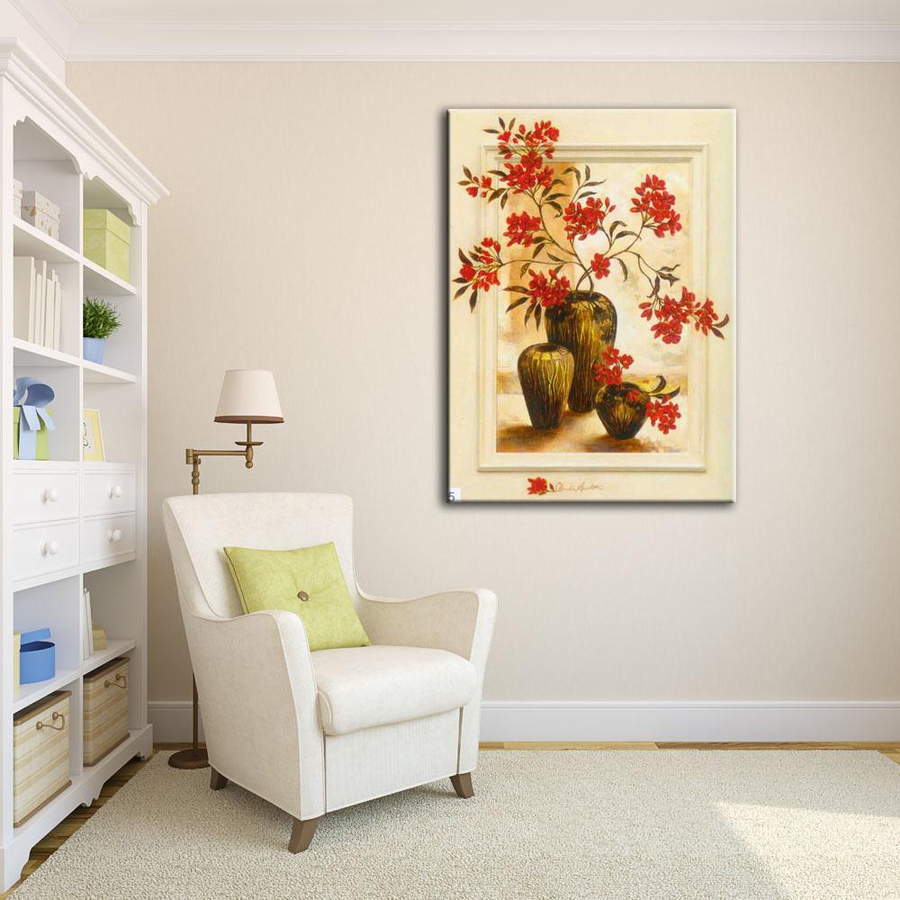 Impressive wall decor artred flower 3d oil painting on canvas