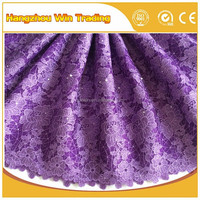 Hand beaded korean lace canada styles purple indian lace fabrics 5 yards 2016