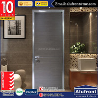 Good Quality Water resist Aluminium Wood Composite flush door price with double glass