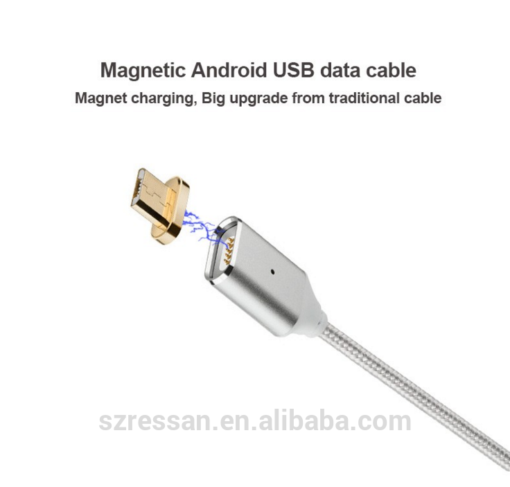 China wholesale OEM Custom Micro 2 in 1 Cabel USB Phone Charging Data Transmission Magnetic USB Cable
