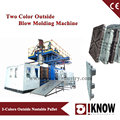 two color outside plastic blow moulding machine