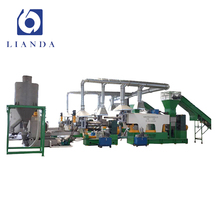 PP PE plastic film recycling and granulating production line