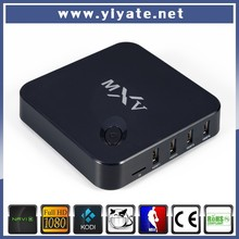 Set top box support google play apk install amlogic S805 quad core android tv box