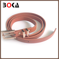 BOKA New arrival genuine leather belt for ladies wholesale pink pu belt for women dress decoration