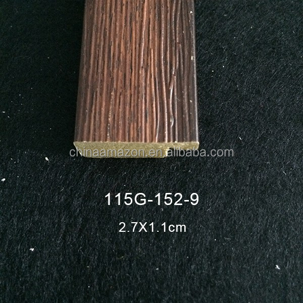 wholesale wood-like ps photo picture frame moulding for sale