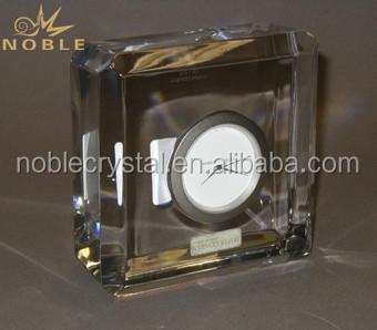 Cube Crystal Desk Clocks Paperweights