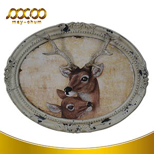 Christmas Gifts Decorative Natural Deer Antlers Wall Painting Frame
