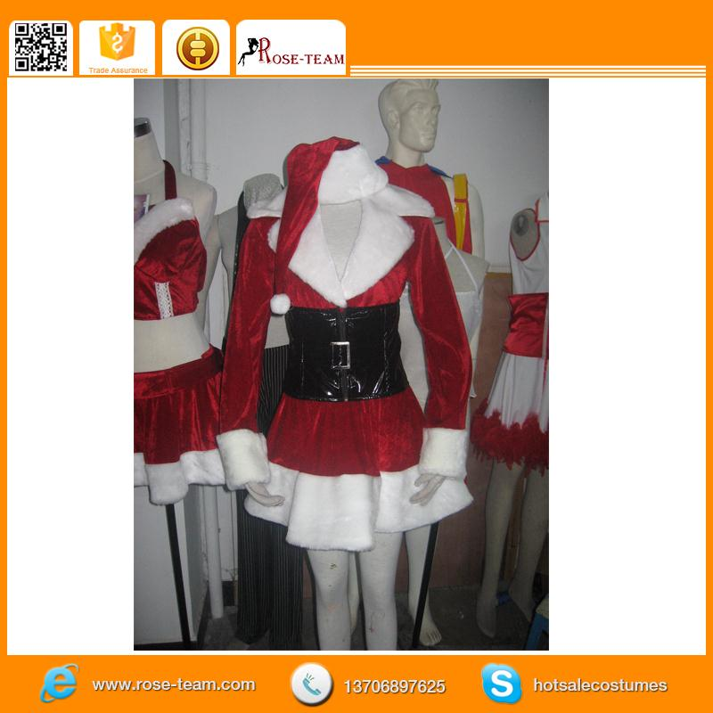 sexy girls christmas dress, 2012 cute boots cartoon christmas mascot costume party dress no.1755, china christmas hat suppliers