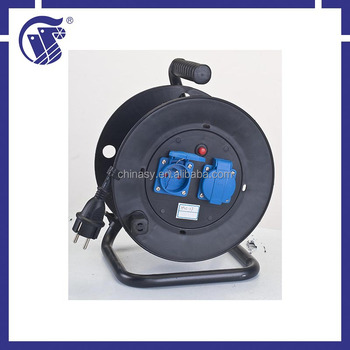 IP44 stripped high quality plastic spring cable reel for Industrial