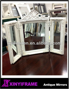 BRAND NEW TRIPLE DRESSING TABLE MIRROR IN WHITE FREE